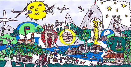 Zmagovalni doodle natečaja Doodle4Google 'Slovenija in jaz' - avtor Maks Lenart Černelč - Doodle 4 Google 2014 Slovenia Winner : Slovenia