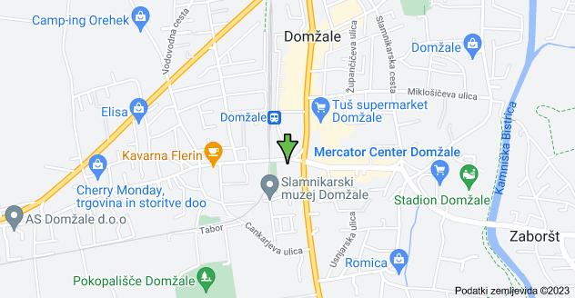 Zemljevid lokacije Ljubljanska cesta 71, 1230 Domžale